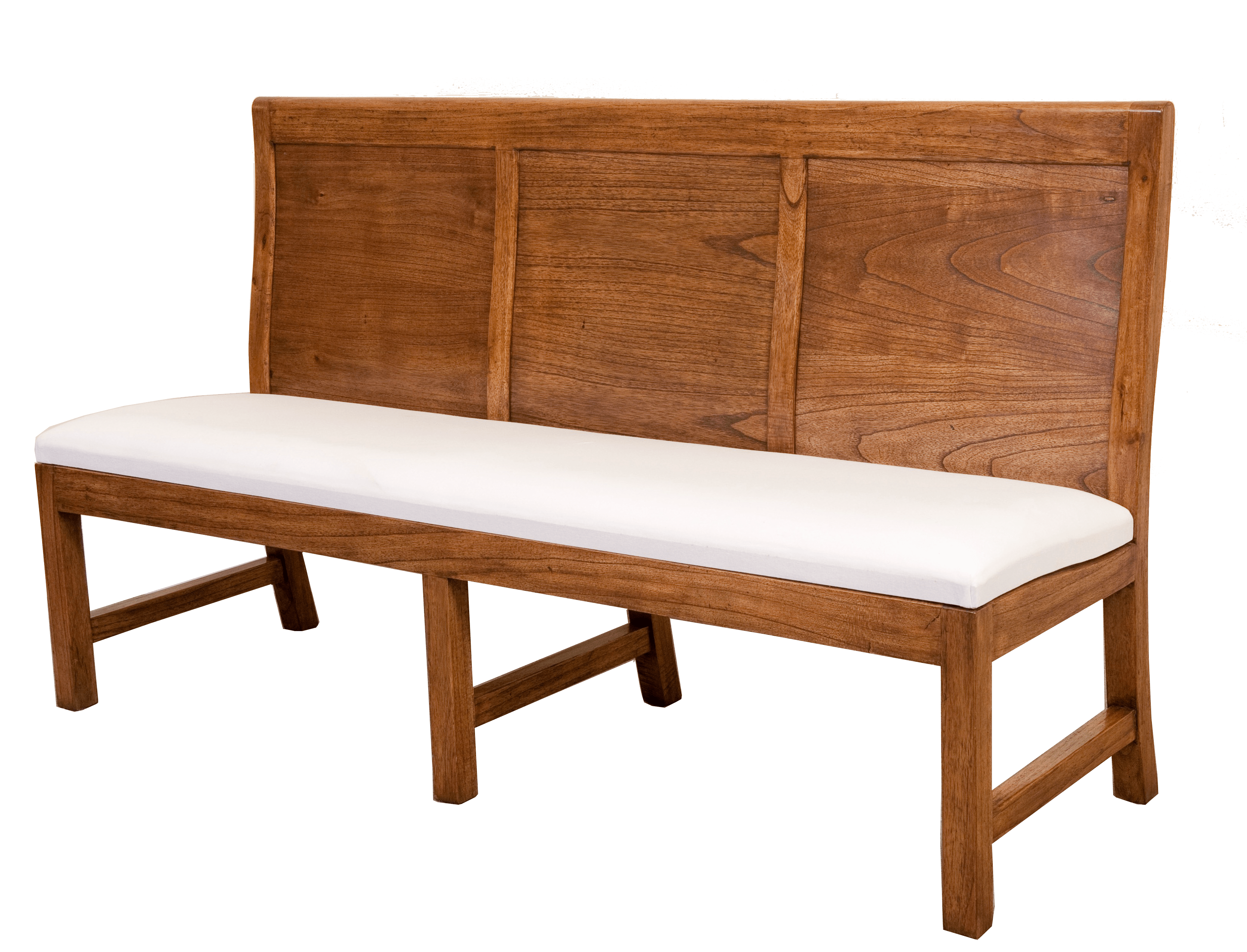 Panel Back 3 Seater Bench