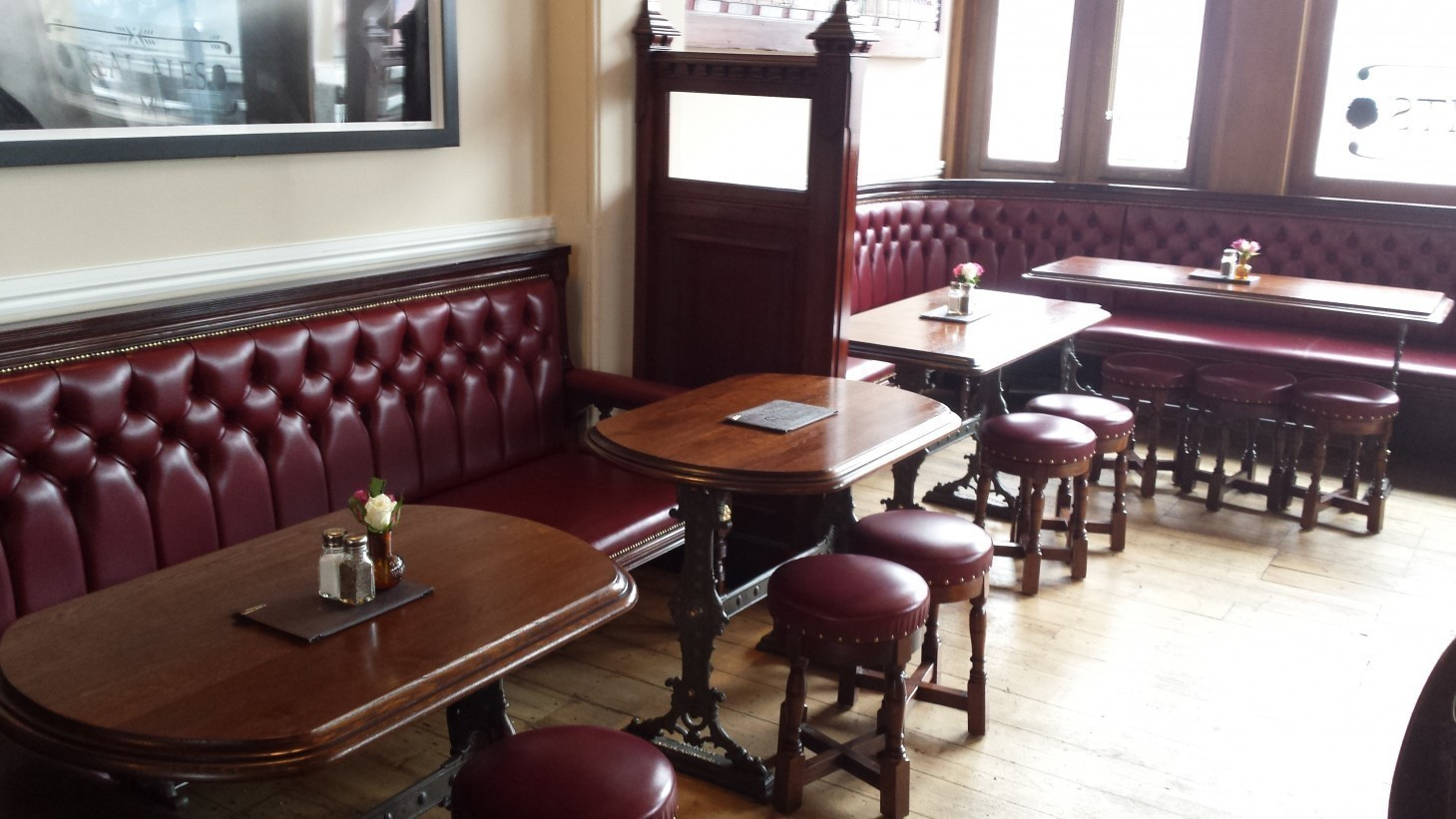 Benches and cast iron tables at The Duchess2