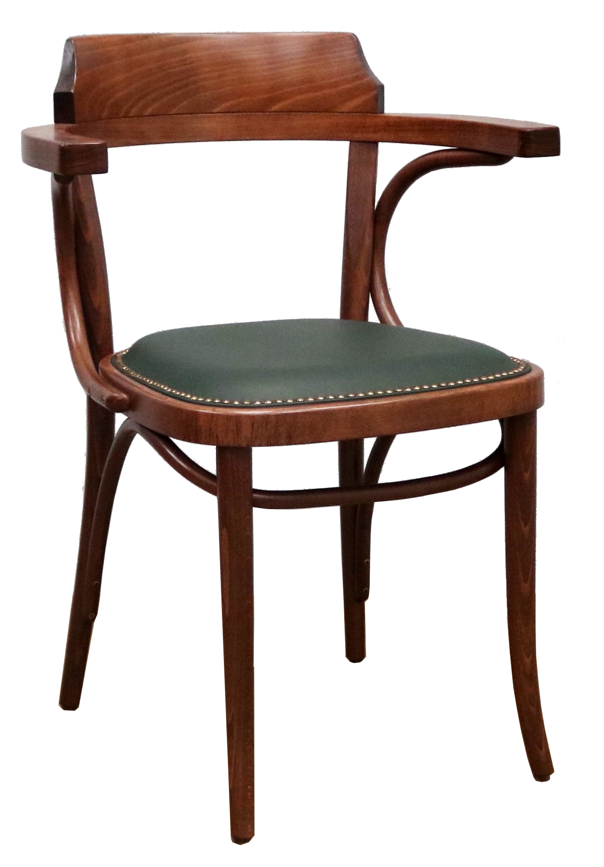 Number 25 Open Back Bentwood Dining Chair With Upholstered