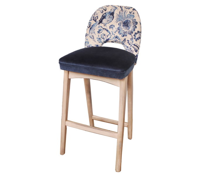 Upholstered Bar Height Bar Stool with Backrest by Benchairs