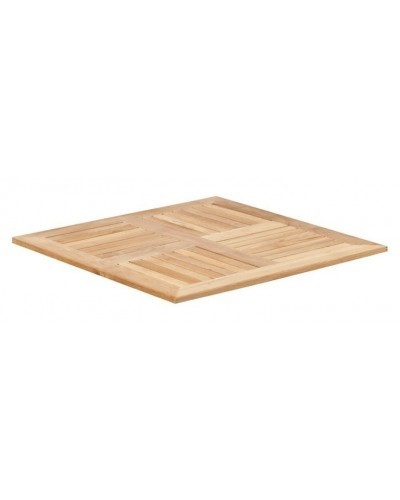 Square Outdoor Teak Table Top