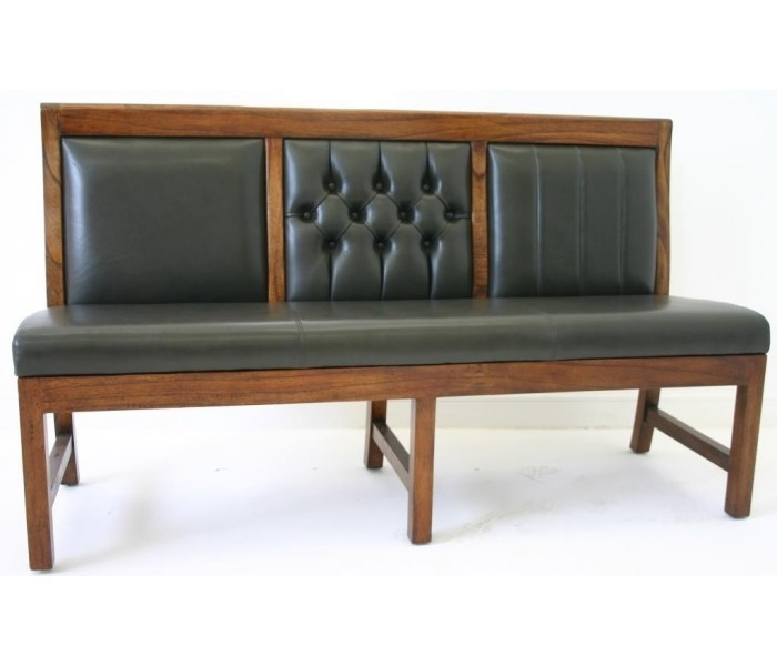 Panel back bench upholstered 3 styles 2
