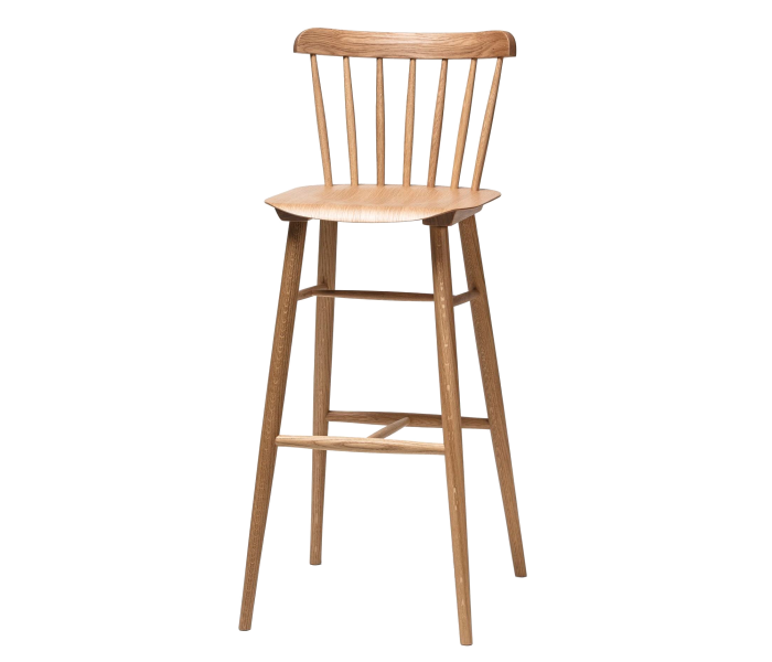 Ironica Polished Bentwood High Stool