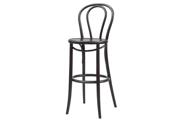 Number 132 Polished Loopback Bentwood High Stool