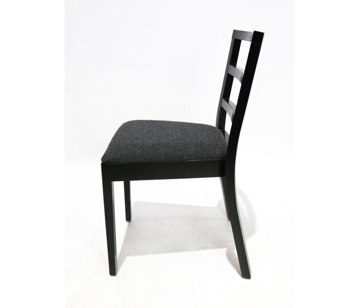 Beech dining chair grey upholstery 3