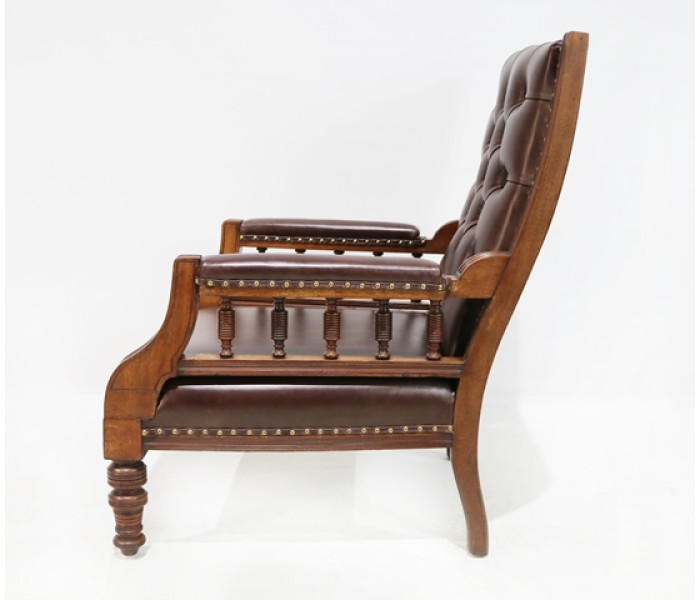 Brown leather chair 2