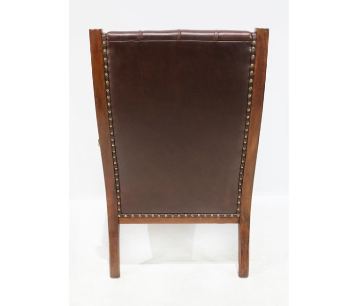 Brown leather chair 3
