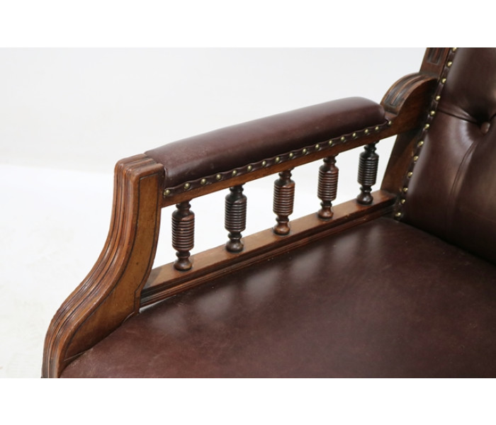 Brown leather chair 5