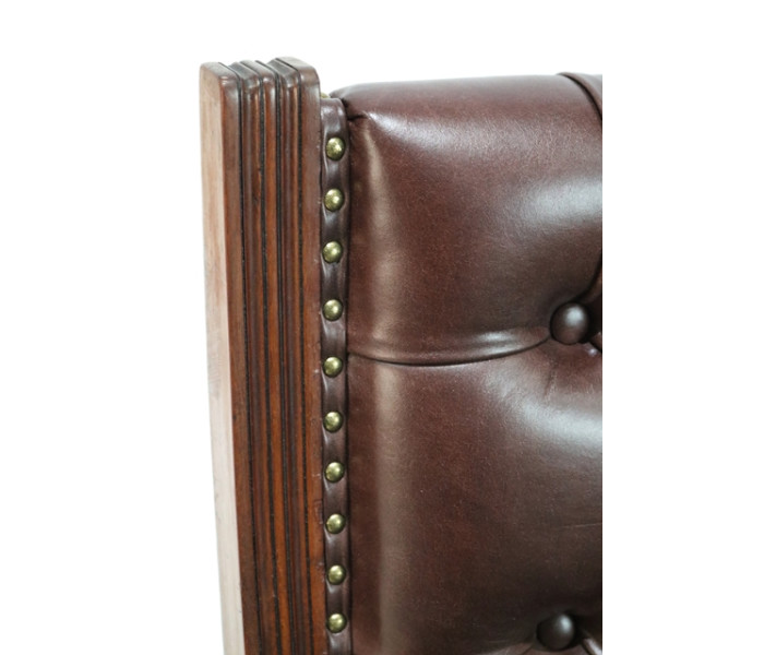 Brown leather chair 6