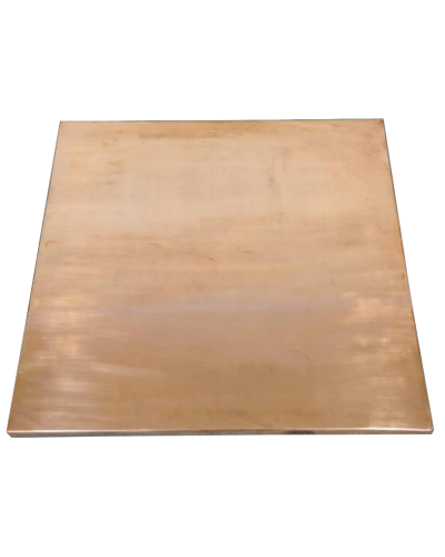 Square Plain Copper Table Top - Hand Beaten