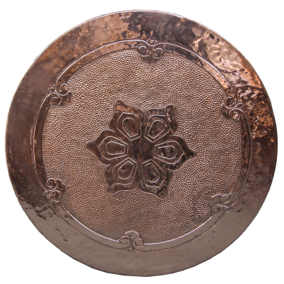 Patterned Copper Table Top - Victorian Design