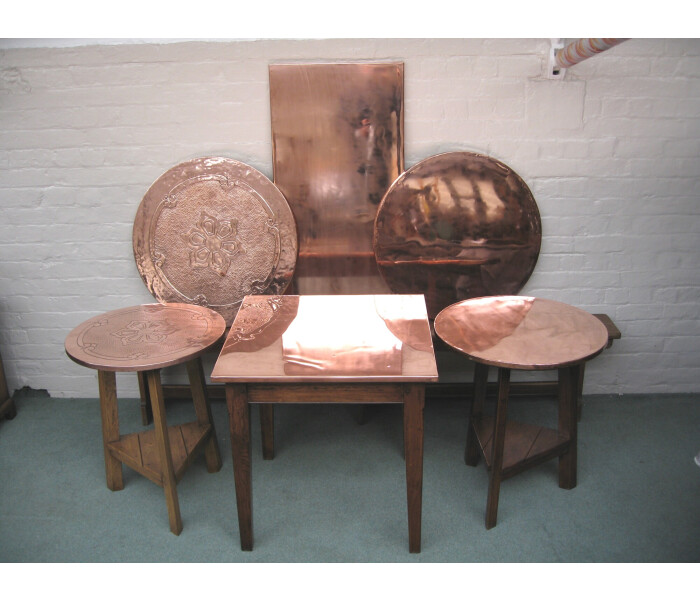 Copper table tops collection