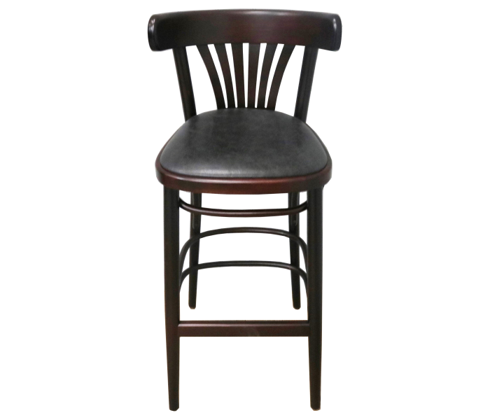 Fanback High Stool Upholstered