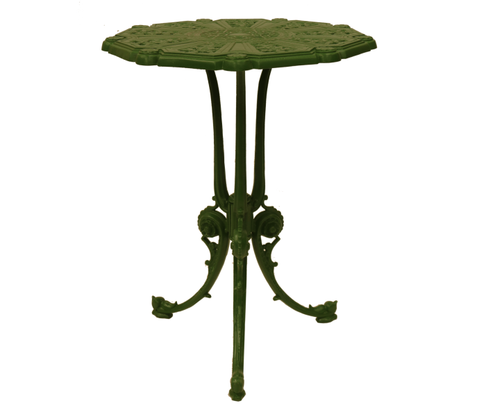 Fern powder coated table green