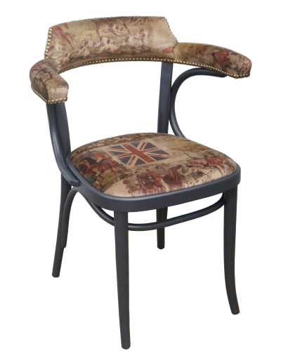 Number 25 Open Back Bentwood Dining Chair Fully Upholstered