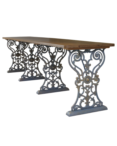 Acanthus Multiple Pedestal Table Base