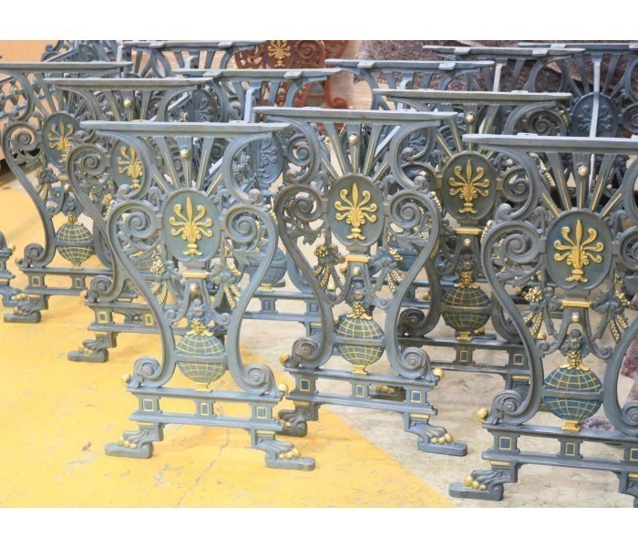 Vintage Cast Iron Table Bases