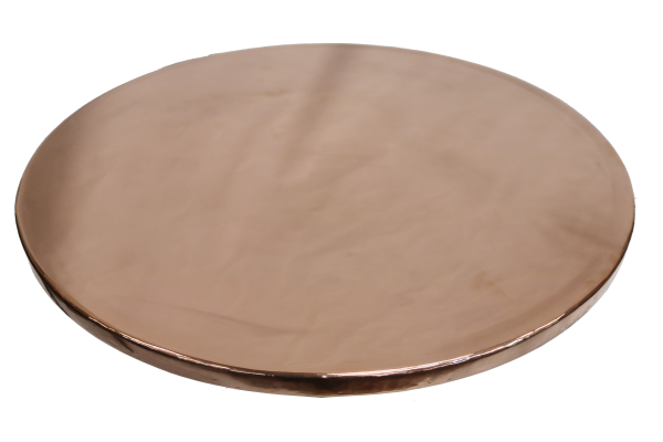 Round Plain Copper Table Top - Hand Beaten