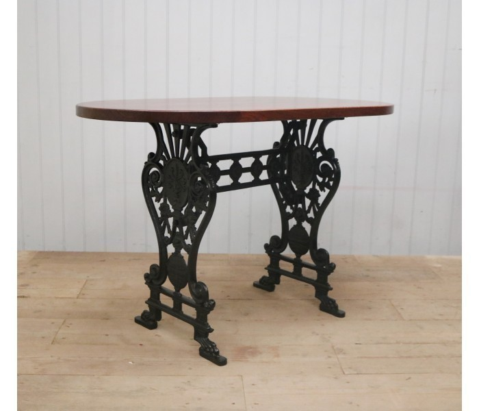 Traditional Cast Iron Table Base Black Finish