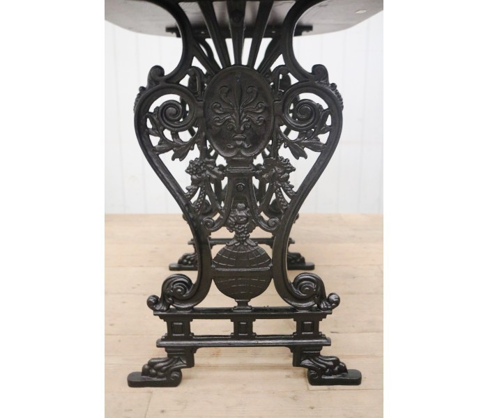 Vintage Design Cast Iron Table Base Black Finish