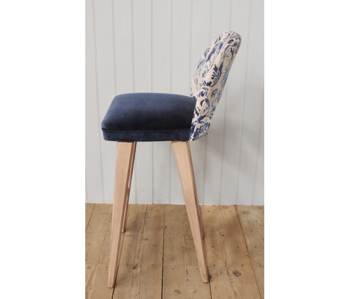 Retro Bar Height Stool with Backrest