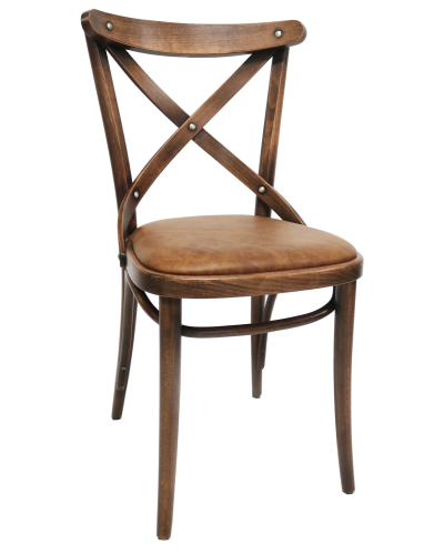Number 150 Upholstered Crossback Bentwood Chair