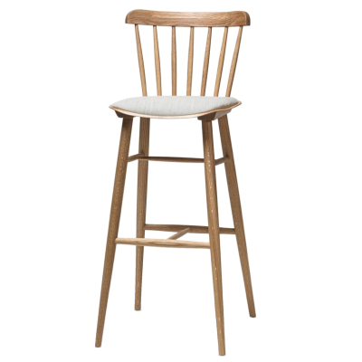 Ironica Upholstered Bentwood High Stool