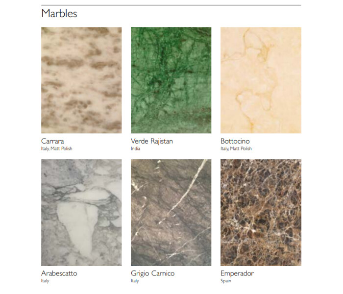 Marble selections
