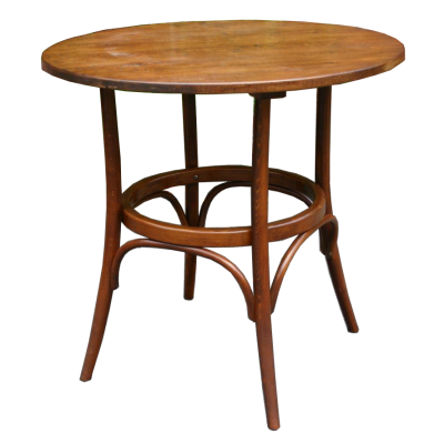Number 252 Bentwood table with 800 dia oak top