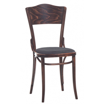 Number 54 Upholstered Panel Back Bentwood Chair
