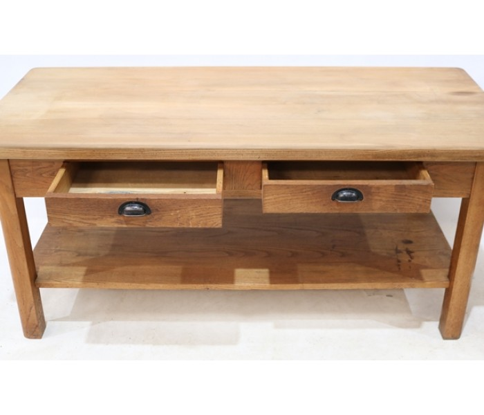 Oak two drawer counter 4