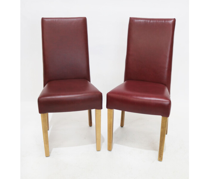 Pair of fully upholstered stacking chairs 1