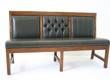 Panel back bench upholstered 3 styles 3