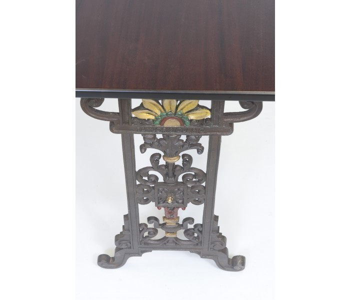 Cast Iron Table Vintage Design