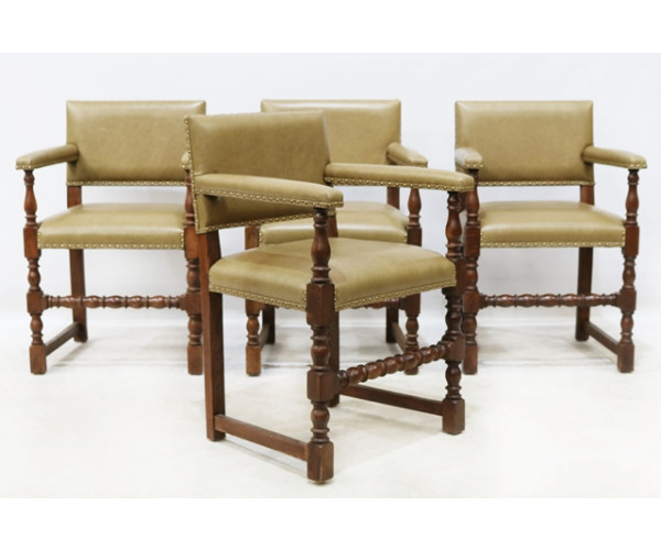 Set of four 17th century style armchairs 1
