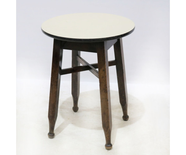 White Formica topped pub table