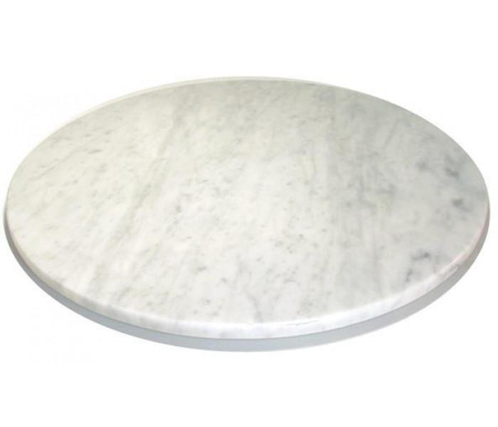 Round White Marble Table Top