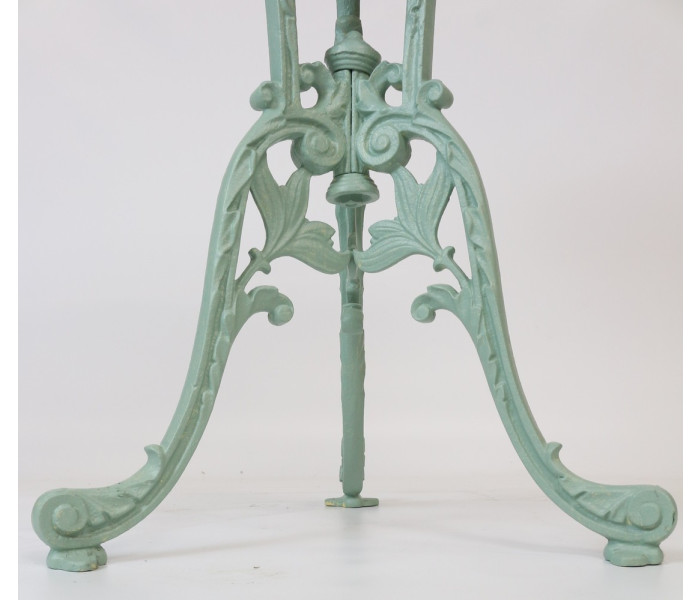 Cast Iron Table Floral Design Detail