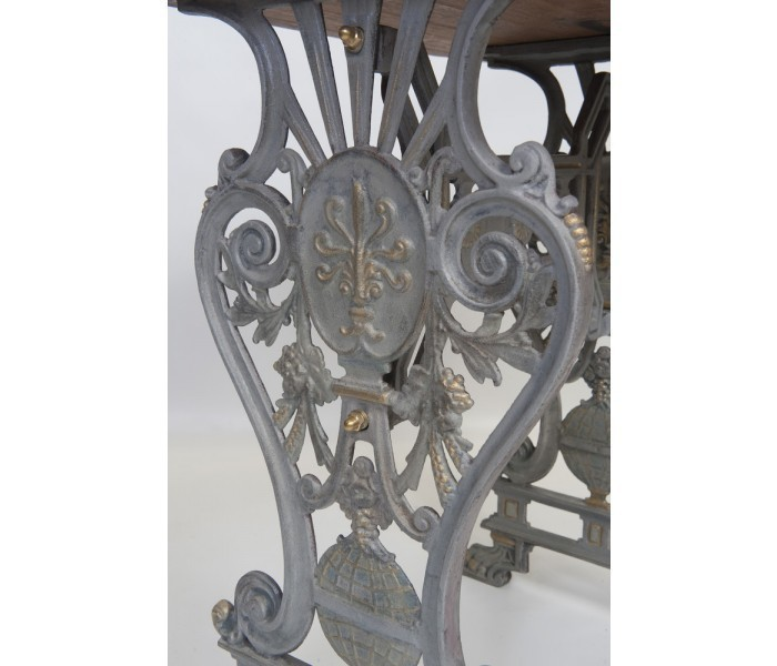 Cast Iron Table Base Detail