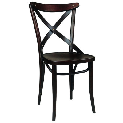 Number 150 Polished Crossback Bentwood Chair