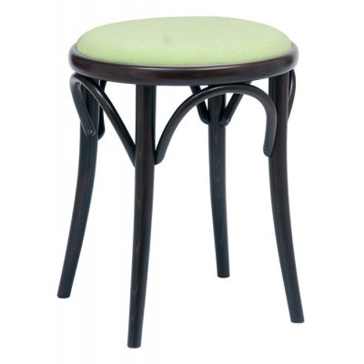 Number 60 Upholstered Bistro Bentwood Low Stool