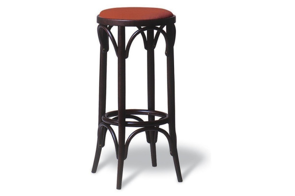 Number 73 Upholstered Bistro Bentwood High Stool