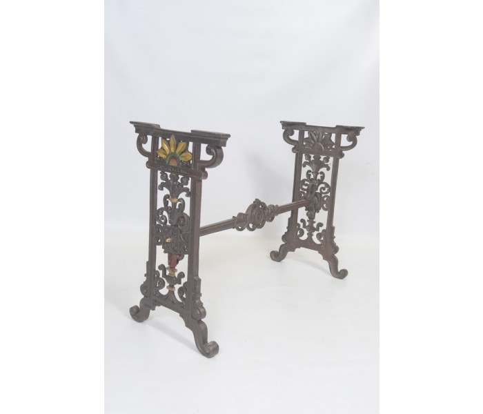 Small Cast Iron Table Floral Design